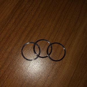 FREE with and purchase. Silver rings
